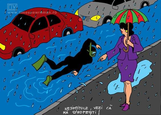 Trafic pe ploaie