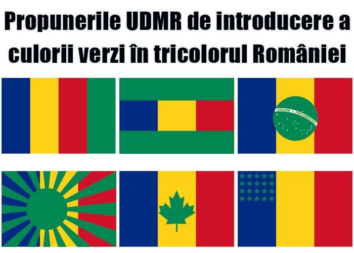 UDMR cere introducerea culorii verzi în tricolorul României