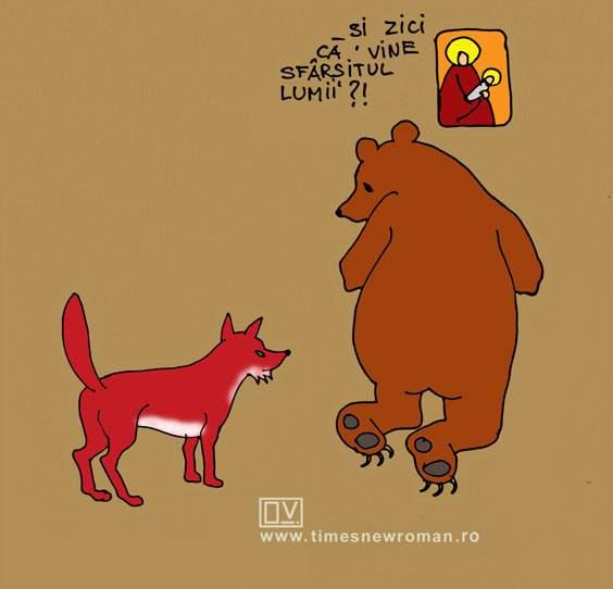 Ursul pocăit de vulpe