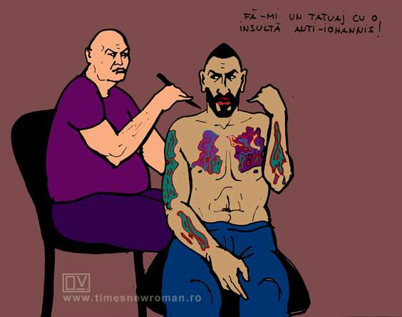 Velea-tatuaj politic