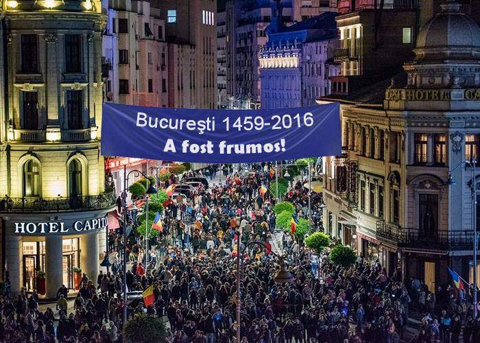 """Adio, București! Locuitorii Capitalei sărbătoresc în stradă """"Ultima săptămână fără Firea"""""""