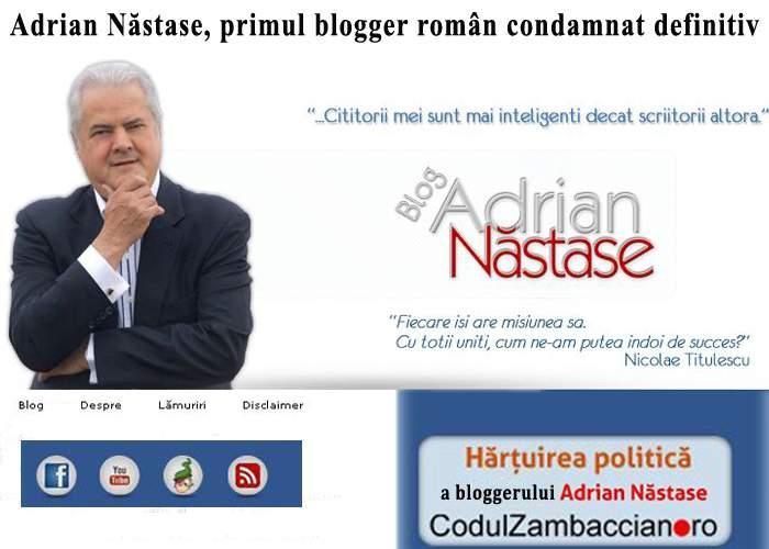 Presa internaţională: Adrian Năstase, primul blogger român condamnat definitiv