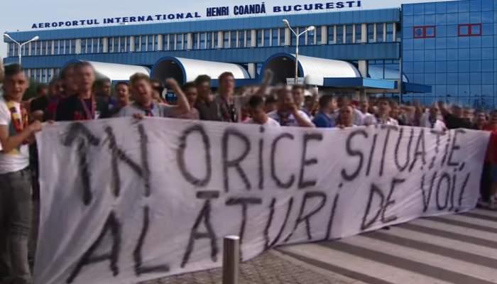 Convinşi că toţi eliminaţii vin aici, mii de români au aşteptat echipa Braziliei la Otopeni