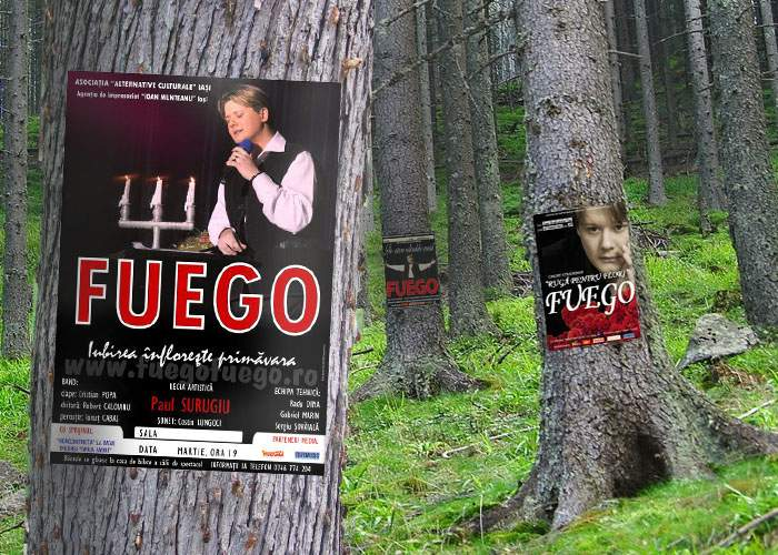 Pentru înduioşarea urşilor, afişe cu Fuego vor fi lipite în mai multe păduri din ţară