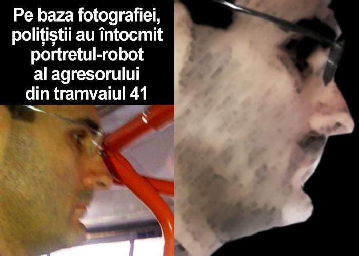 Poliţiştii au făcut portretul-robot al bărbatului fotografiat de victima sa în tramvaiul 41!