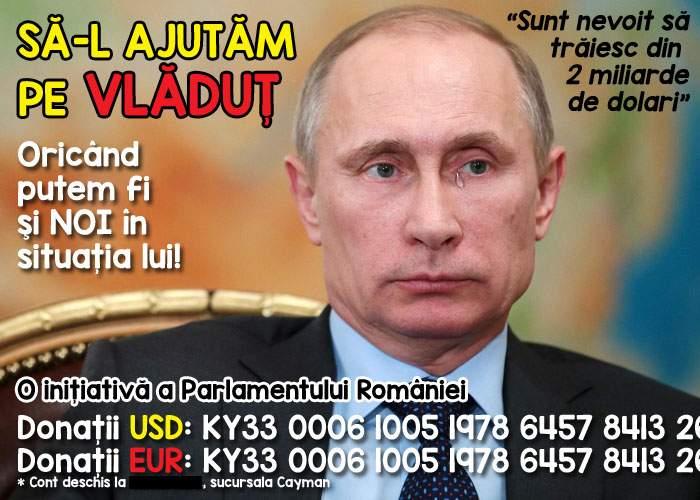 Auzind că Putin are doar 2 miliarde de dolari în Panama, politicienii români strâng bani să-l ajute