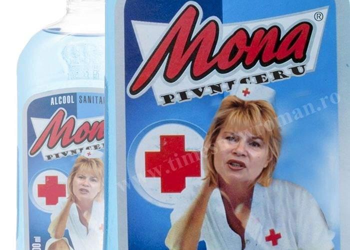 """Poza zilei! Mona Pivniceru este noua imagine a alcoolului sanitar """"Mona"""""""