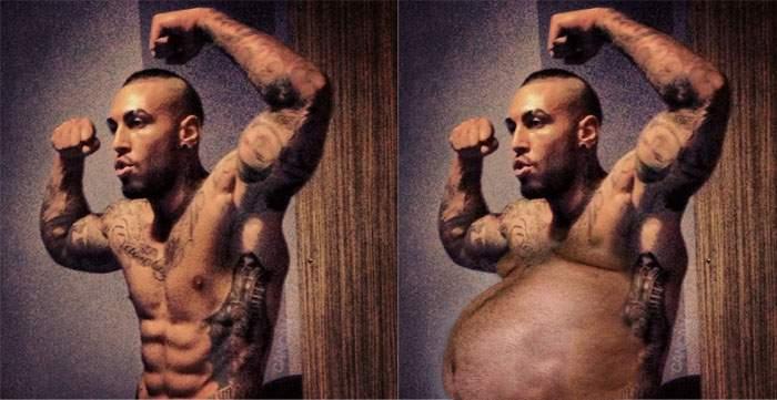Alex Velea își lasă burtă, ca să aibă loc pentru noi tatuaje