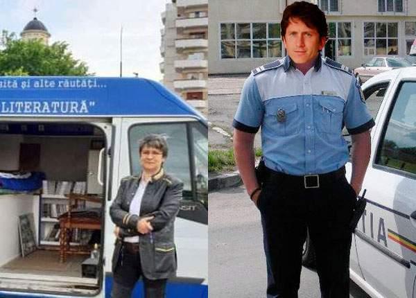 Scriitoarea din ambulanţă a fost salvată în ultimul moment de un coleg, scriitorul din duba de poliţie