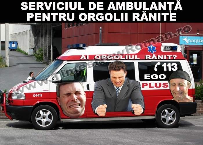 Ambulanțele Ego-Puls, pregătite să intervină în cazurile de orgoliu rănit