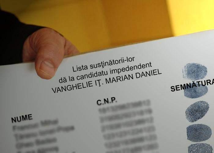 Pe lista cu semnături a lui Vanghelie au fost găsite amprentele a sute de infractori din Sectorul 5