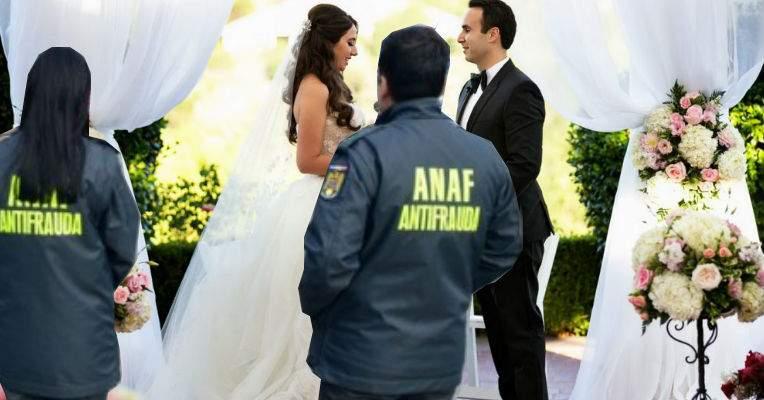 Atenţie! Dacă nu declari la ANAF cât te costă nunta, vin ei şi-ţi fură mireasa