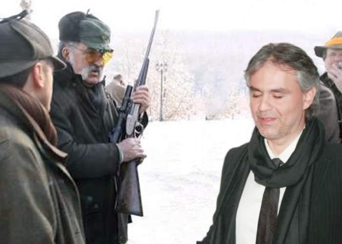 Dintr-o greșeală, Ion Țiriac l-a invitat la vânătoare și pe Andrea Bocelli