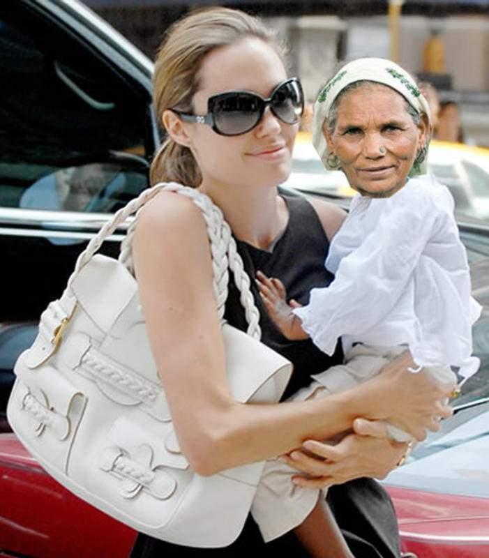 Angelina Jolie e în România. Înfiază pensionari