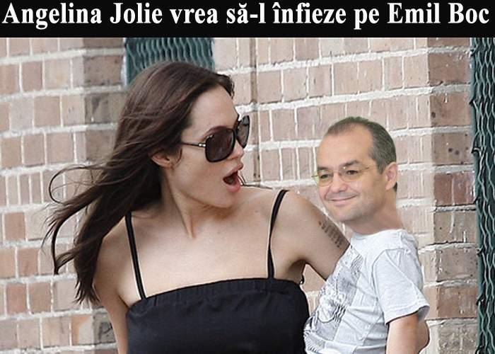 Abandonat de Băsescu, Emil Boc a fost înfiat de Angelina Jolie