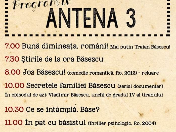 Poza zilei! Antena 3 a lansat grila de programe anti-Băsescu pentru 2016