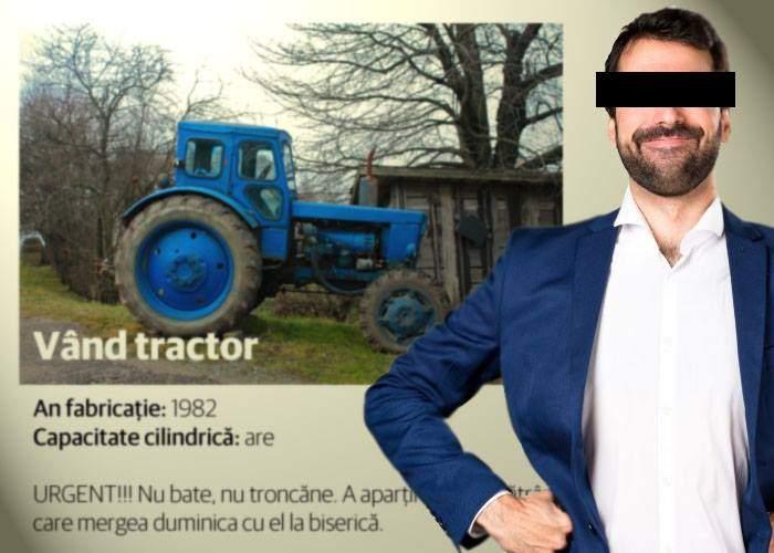 """Pentru că la angajare i se cerea experienţă în vânzări, un român a ţinut 3 luni pe un site anunţul """"Vând tractor"""""""