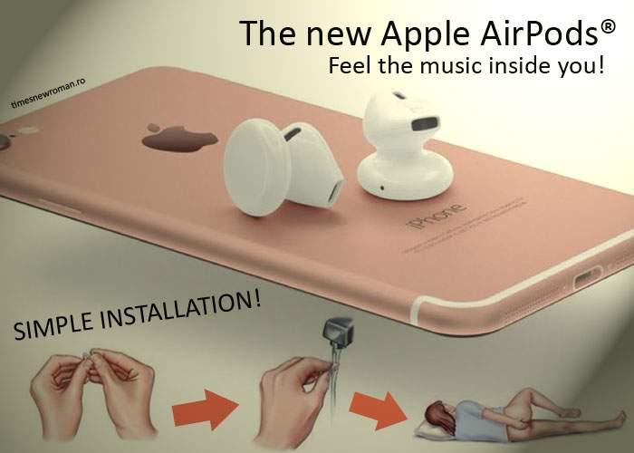 """Noile căşti Apple cad din urechi fiindcă le ţii greşit! Pe cutie scrie clar """"A se introduce în anus"""""""