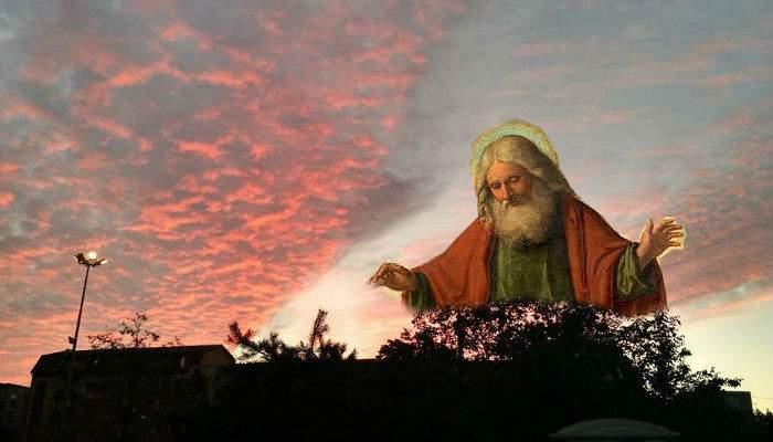 Încântat de pozele cu apusul postate aseară de români pe Facebook, Dumnezeu mai face un apus şi azi!
