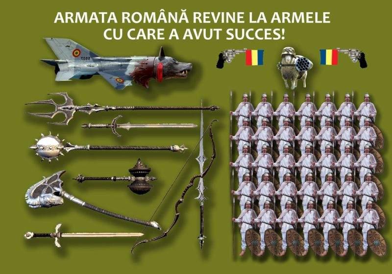 Armata română se modernizează: va înlocui armele de foc cu săbii, buzdugane şi suliţe