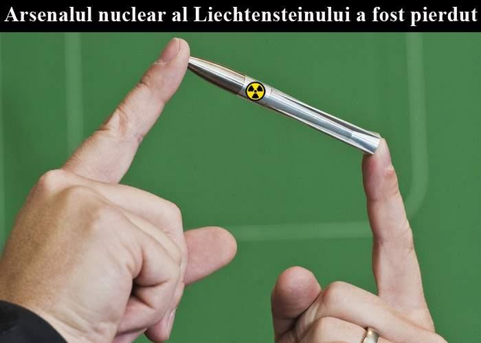 Arsenalul nuclear al Liechtensteinului, dat dispărut! A fost scăpat într-o gură de canal