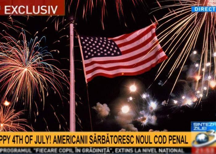 """Foc de artificii la Ambasada SUA. Antena3: """"Americanii serbează adoptarea noului cod penal"""""""