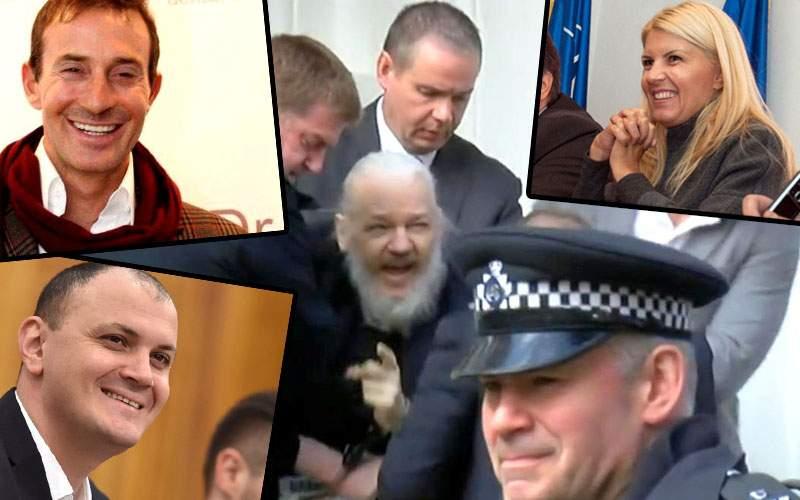 """Udrea, Ghiţă şi Mazăre râd de Assange: """"Te-au săltat, fraiere!"""""""