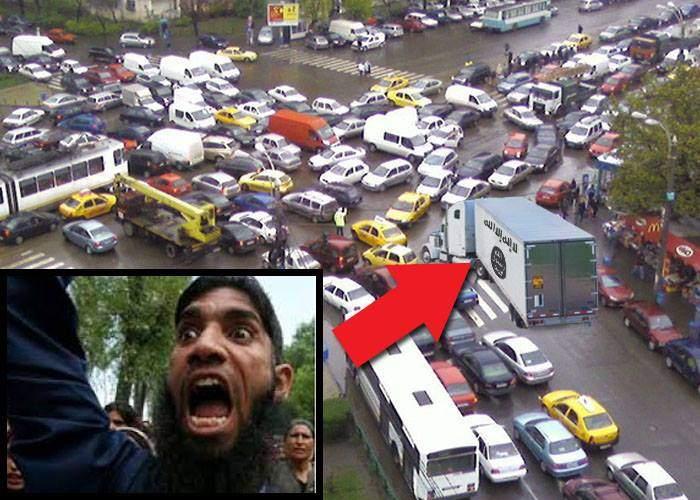 Atentat în desfăşurare la Bucureşti. Camionul e la Victoriei, ajunge în 3 zile la Târgul de Crăciun