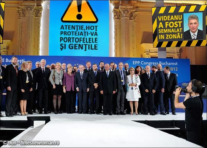 Poza zilei! Avertismente anti-Videanu la congresul PPE de la Bucureşti