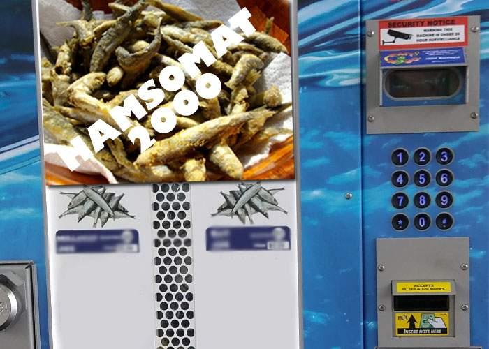 În Vamă s-au instalat automate de hamsii pentru corporatiştii care nu ştiu să cumpere mâncare altfel