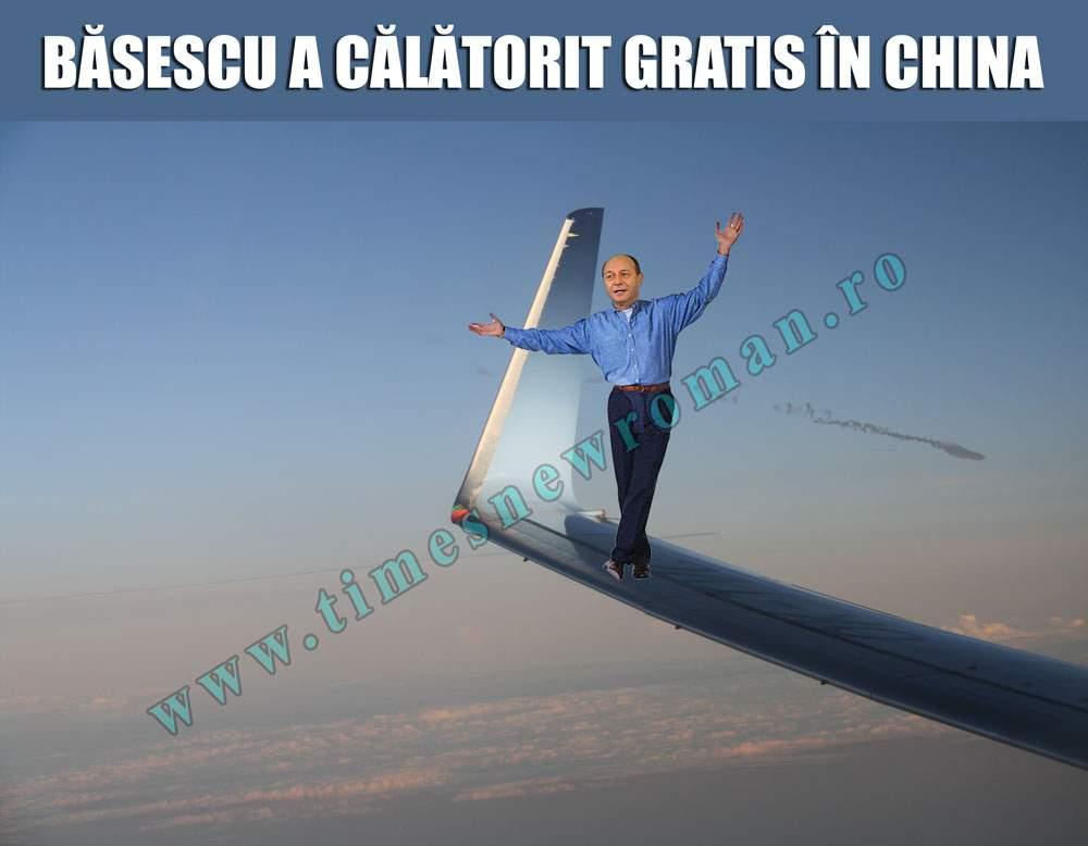 Băsescu a ajuns în China ca pasager clandestin