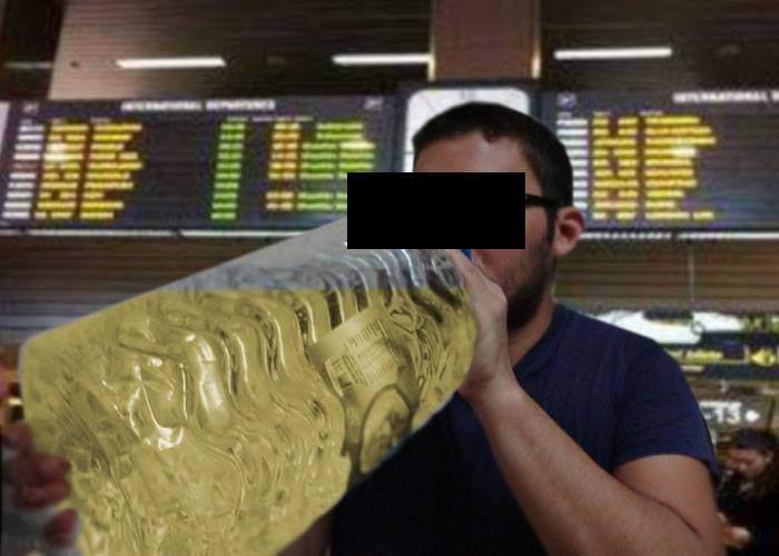 Protest pe Otopeni! Un român a băut un bidon de 5 litri de Babanu fiindcă n-a fost lăsat să-l ia în avion