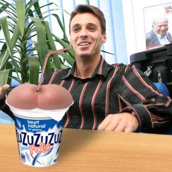 Ca să-l fidelizeze și mai tare pe Mircea Badea, Zuzu lansează gama de produse în formă de cur