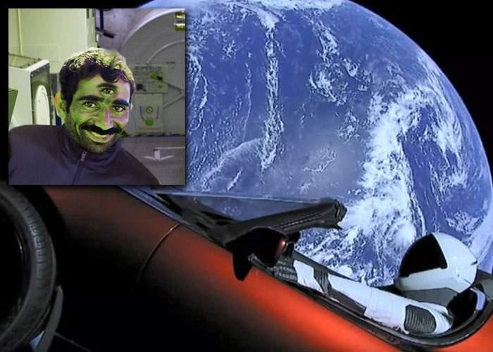"""Există viaţă în spaţiu! Maşina Tesla lansată de Elon Musk a primit deja semnale cu """"Bag-o aicea boss"""""""