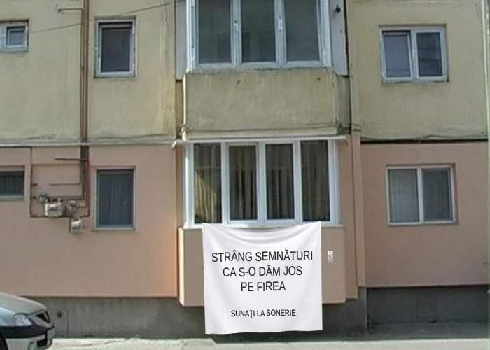 Bucureştenii au ales! Cel mai frumos balcon e unul de la care se strâng semnături pentru demiterea lui Firea