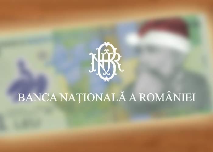 Poza zilei! BNR, gest frumos pentru românii săraci: au lansat bancnota de 1 leu cu Moş Crăciun