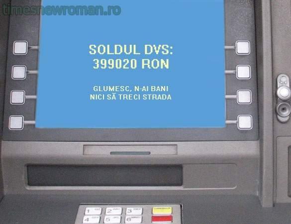 Fotogalerie! 10 mesaje pe care le vom întâlni în curând pe ecranul bancomatelor