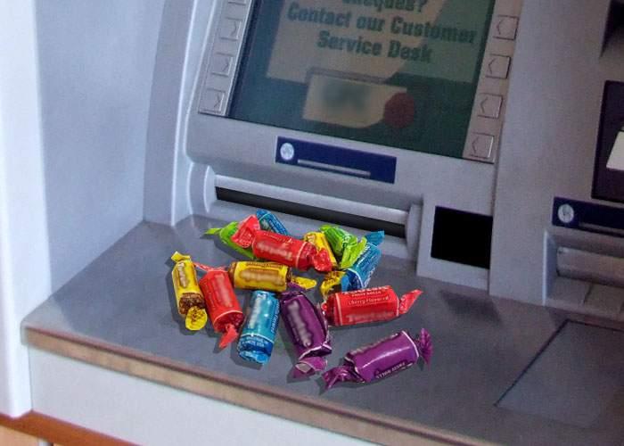 Din 2014, bancomatele ar putea oferi caramele şi gumă când rămân fără mărunt