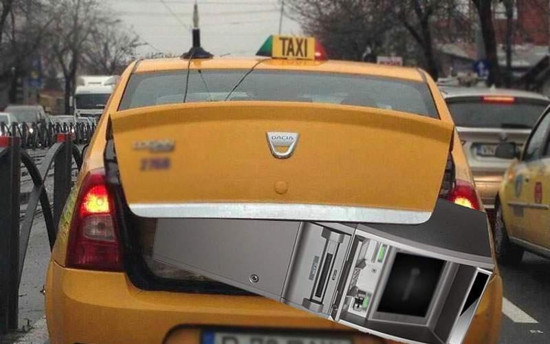 Taxiurile cu POS din Cluj, umilite! Taximetrist de Ilfov, prins cu un bancomat în portbagaj