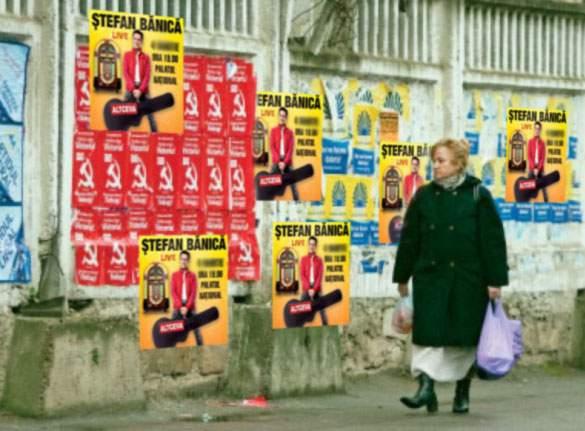 Pentru că are foarte multe afişe în Chişinău, Ştefan Bănică Jr. ar putea ajunge preşedintele Moldovei