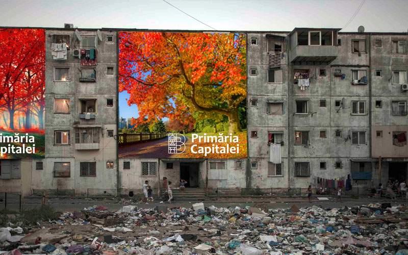 Primăria Capitalei dă 2 milioane de euro pe o campanie de afişe cu peisaje de toamnă