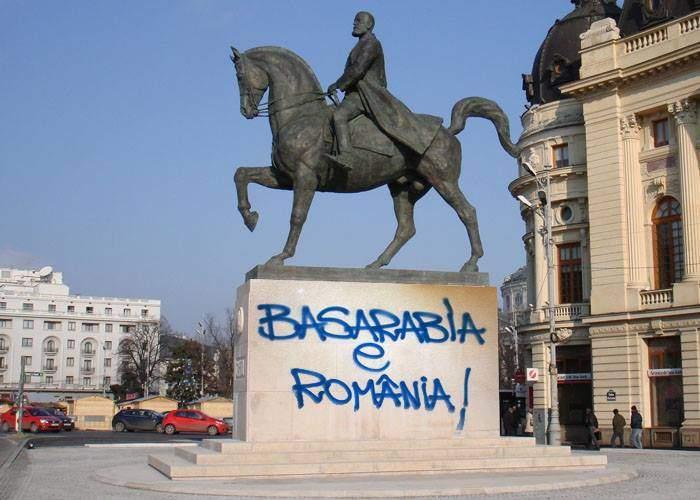 """Nu-i lăsăm singuri pe frații de peste Prut! Vom dubla numărul de grafitti-uri """"Basarabia e România"""""""