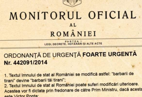 Ponta a dat o ordonanță de urgență prin care schimbă convenabil versurile imnului României