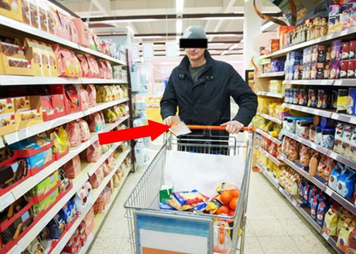 Noroc chior! Un bărbat a pierdut lista de cumpărături făcută de soţie, dar a găsit alta pe jos