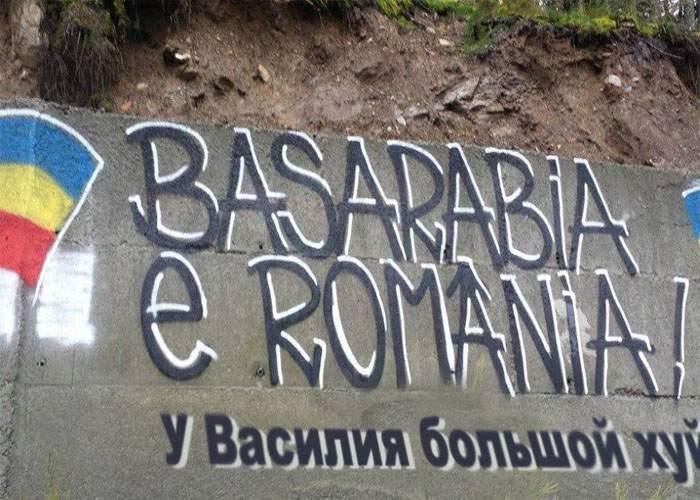 """Graffiti-urile cu """"Basarabia e România"""" vor fi traduse în rusă, ca să le înţeleagă şi cei din Republica Moldova"""