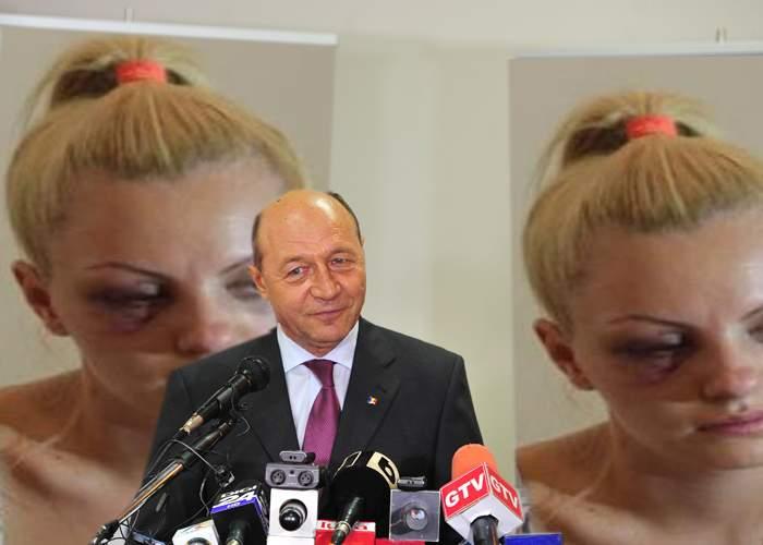 """Băsescu îi ia apărarea agresorului: """"Poate a zis Alexandra Stan ceva, poate l-a înjurat…"""""""