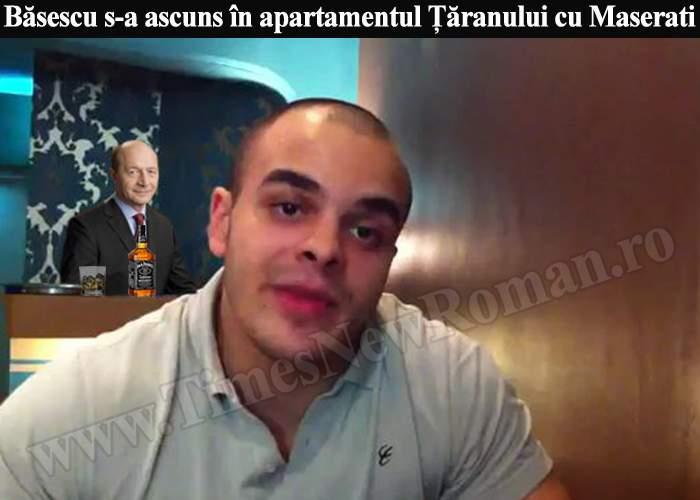 Băsescu s-a ascuns până acum acasă la susţinătorul său numărul 1, Ţăranul cu Maserati