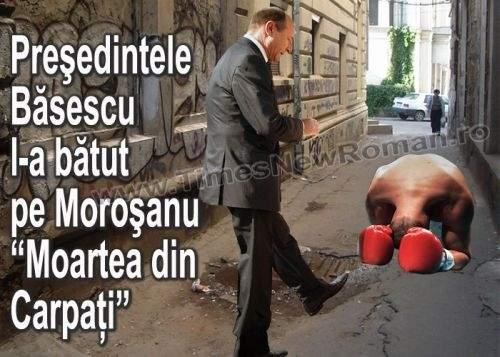 """Băsescu, acuzat că l-a bătut pe Moroşanu, """"Moartea din Carpaţi"""""""