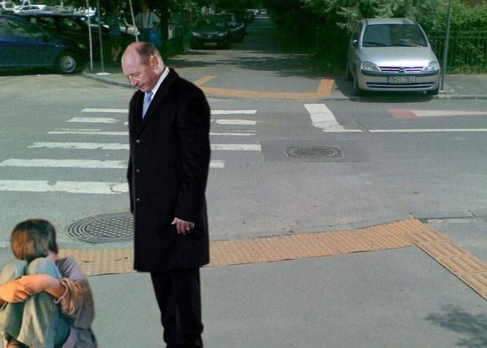 Băsescu a lovit un copil care nu i-a dat o floare mamei sale de 8 Martie