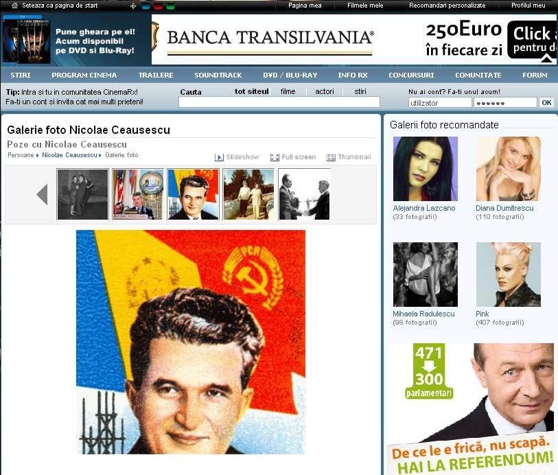 Băsescu se promovează alături de Ceauşescu